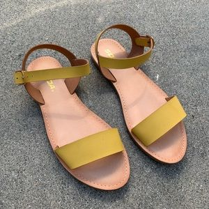 Soda Women Mustard Yellow Ankle Strap Sandal